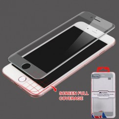 Apple iPhone 7 Plus Full Coverage Tempered Glass Screen Protector/Silver