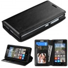 Nokia Lumia 435 Black Wallet with Tray