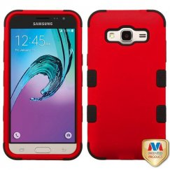 Samsung Galaxy J3 Titanium Red/Black Hybrid Case