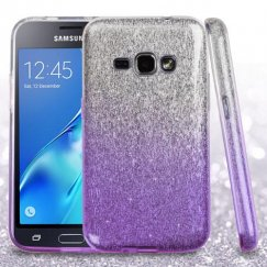 Samsung Galaxy J1 Purple Gradient Glitter Hybrid Case