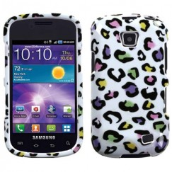 Samsung Illusion SCH-i110 Colorful Leopard Case