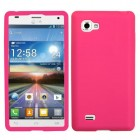 LG Optimus 4X HD Solid Skin Cover (Hot Pink)