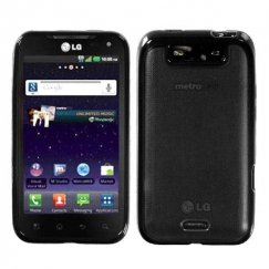 LG Viper Transparent Clear/Solid Black Gummy Cover