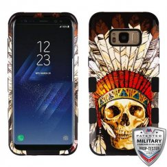 Samsung Galaxy S8 Plus DeadChiefSkull/Black Hybrid Case Military Grade