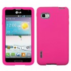 LG Optimus F3 Solid Skin Cover - Hot Pink