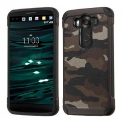 LG V10 Camouflage Gray Backing/Black Astronoot Case
