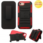 Apple iPhone 7 Black/Red Advanced Armor Stand Protector Cover (With Black Holster)