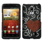 LG Spectrum Curve Heart Diamante Case