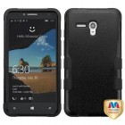 Alcatel One Touch Fierce XL Natural Black/Black Hybrid Phone Protector Cover