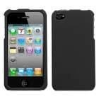 Apple iPhone 4/4s Black Phone Protector Cover(Rubberized)
