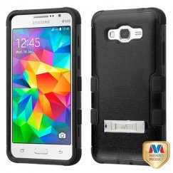 Samsung Galaxy Grand Prime Natural Black/Black Hybrid Case with Stand
