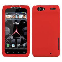 Motorola Droid RAZR Solid Skin Cover - Red