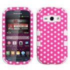Samsung Galaxy Ring Dots(Pink/white)/White Hybrid Case