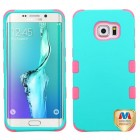 Samsung Galaxy S6 Edge Plus Rubberized Teal Green/Electric Pink Hybrid Case