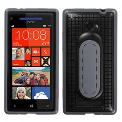 HTC Windows Phone 8x Black Snap Tail Stand Case