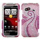 HTC Droid Incredible 4G LTE Phoenix Tail Diamante Case