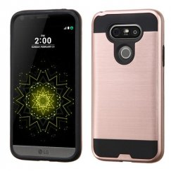 LG G5 Rose Gold/Black Brushed Hybrid Case