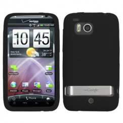 HTC Thunderbolt Black Silicon Skin Cover