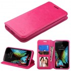 LG K10 Hot Pink Wallet with Tray