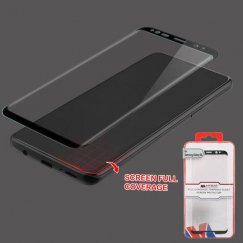 Samsung Galaxy S9 Full Coverage Tempered Glass Screen Protector/Black
