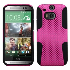 HTC One M8 Hot Pink/Black Astronoot Case