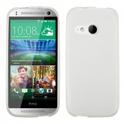 HTC One Remix Semi Transparent White Candy Skin Cover - Rubberized