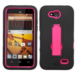 ZTE Speed Hot Pink/Black Symbiosis Stand Case