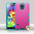 Samsung Galaxy S5 Natural Hot Pink/Tropical Teal Merge Hybrid Protector Cover