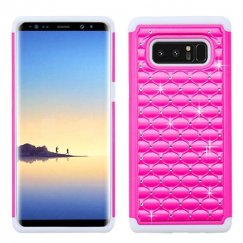 Samsung Galaxy Note 8 Hot Pink/Solid White FullStar Case