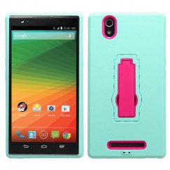 ZTE ZMax Hot Pink/Sky Blue Symbiosis Stand Case