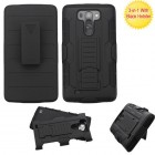 LG G Vista Black/Black Advanced Armor Stand Case with Black Holster