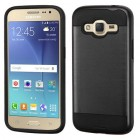 Samsung Galaxy J2 Black/Black Brushed Hybrid Protector Cover