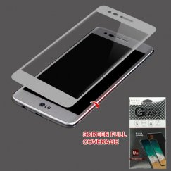 LG K8 / Phoenix 3 Full Caseage Tempered Glass Screen Protector/Silver