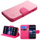 ZTE Obsidian Pink Pattern/Hot Pink Liner Wallet (with card slot)