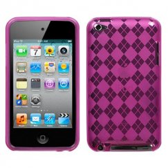 Apple iPod Touch (4th Generation) Hot Pink Argyle Candy Skin Cover