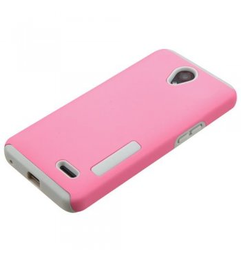 ZTE Avid Plus / Maven 2 Pink/Gray Hybrid Protector Cover