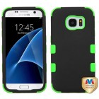 Samsung Galaxy S7 Rubberized Black/Electric Green Hybrid Case