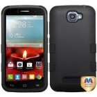 Alcatel One Touch Fierce 2 Rubberized Black/Black Hybrid Phone Protector Cover