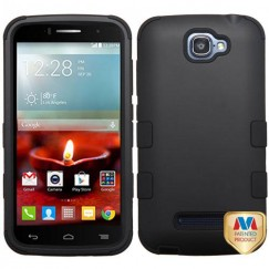 Alcatel One Touch Fierce 2 Rubberized Black/Black Hybrid Case