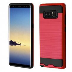 Samsung Galaxy Note 8 Red/Black Brushed Hybrid Case