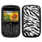 Blackberry 9300 Curve Laser Zebra Skin (White/Black) Skin Cover