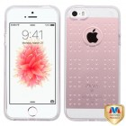 Apple iPhone SE Glassy Transparent Clear SPOTS Candy Skin Cover