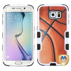 Samsung Galaxy S6 Edge Basketball-Sports Collection/Black Hybrid Case