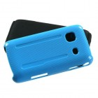 Samsung Galaxy Prevail Solid Baby Blue/Black Fusion Protector Cover