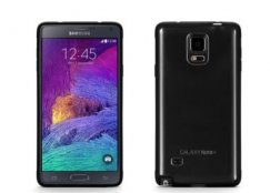 GRIFFIN Ultra-thin hard shell case for Galaxy Note 4- Clear/Black Trim
