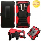 LG G Stylo Black/Red Advanced Armor Stand Protector Cover (With Black Holster)