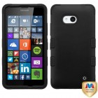 Nokia Lumia 640 Rubberized Black/Black Hybrid Case
