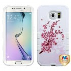 Samsung Galaxy S6 Edge Spring Flowers/Solid White Hybrid Phone Protector Cover