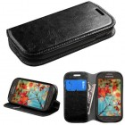 Samsung Galaxy Light Black Wallet with Tray