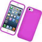 Apple iPhone 5 Rubberized Snap On Cover, Hot Pink